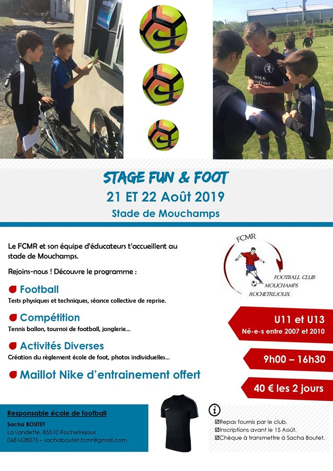 stage foot aout 2019